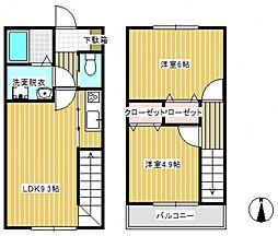 [テラスハウス] 埼玉県上尾市大字原市 の賃貸【/】の間取り