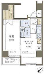 リヴシティ神田[1101号室]の間取り