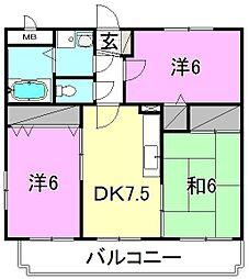 レ・セーナ小坂[301 号室号室]の間取り