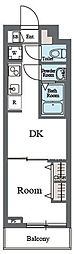東急田園都市線 用賀駅 徒歩9分の賃貸マンション 2階1DKの間取り