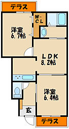 シャーメゾン 三木[1階]の間取り