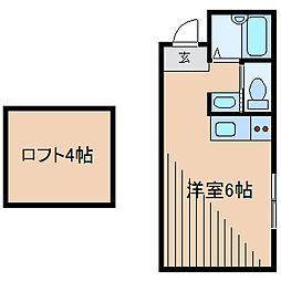 神奈川県相模原市南区上鶴間1丁目の賃貸アパートの間取り