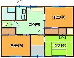 [一戸建] 鳥取県米子市東福原8丁目 の賃貸【/】の間取り