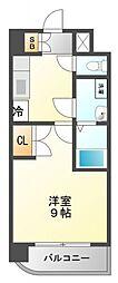 WGB江坂[11階]の間取り