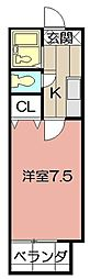 MOON江南町[202号室]の間取り
