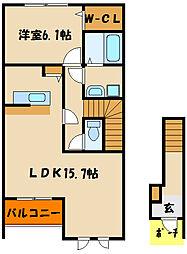 ファミールモノモリ[2階]の間取り