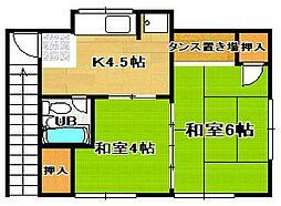 [一戸建] 島根県松江市上乃木4丁目 の賃貸【/】の間取り