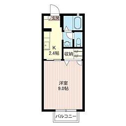 エーデル桜 A[2階]の間取り
