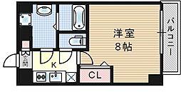 大阪府大阪市此花区四貫島1丁目の賃貸マンションの間取り