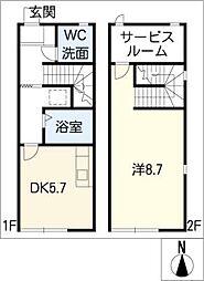 [タウンハウス] 三重県松阪市嬉野中川新町2丁目 の賃貸【/】の間取り