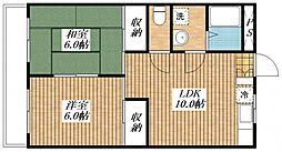 エステート昭島[2階]の間取り