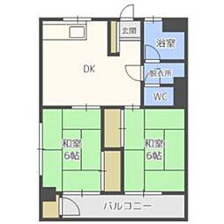 福岡県福岡市南区向新町2丁目の賃貸マンションの間取り