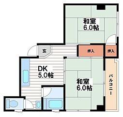 川原マンション[2階]の間取り