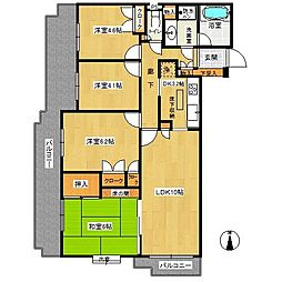 東戸塚パークホームズ[1階]の間取り