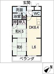 グリーンピアクロヤナギ[2階]の間取り
