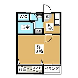第10グリーンハイツ[1階]の間取り