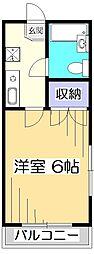 ハイム尾崎小金井[1階]の間取り