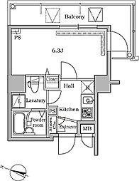 レジディア広尾II[707号室]の間取り