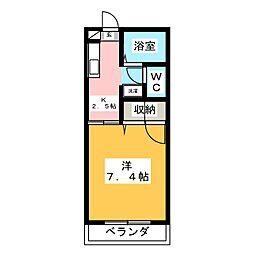 フラット菅生[2階]の間取り