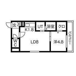 SENNA澄川[2階]の間取り