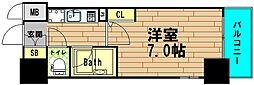 エスリード松屋町[1階]の間取り