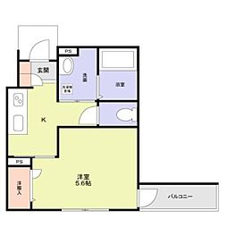 JR中央線 阿佐ヶ谷駅 徒歩6分の賃貸アパート 1階1Kの間取り