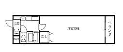 ヴァンテアン東本町[3階]の間取り