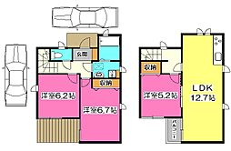 [一戸建] 東京都清瀬市中清戸4丁目 の賃貸【/】の間取り