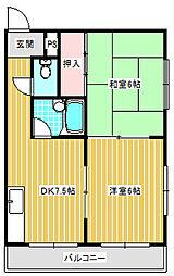 ローレルハイツ岡本[4B号室]の間取り