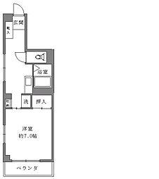 クリフマンション[401号室]の間取り