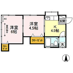 [一戸建] 神奈川県横浜市港南区日野7丁目 の賃貸【/】の間取り