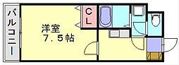 春日原AーONE[2階]の間取り