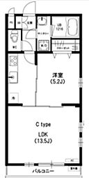 神奈川県川崎市麻生区高石5丁目の賃貸アパートの間取り