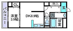 仮)上田辺マンション[103号室]の間取り
