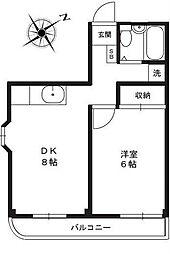 川越MMハイツ[4階]の間取り