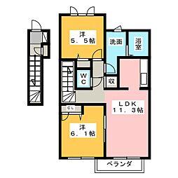 グレイスステージIII B[2階]の間取り