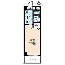 ベルメゾン川崎II[3階]の間取り