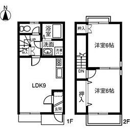 [テラスハウス] 愛知県稲沢市小池2丁目 の賃貸【/】の間取り
