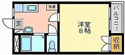 岡山県岡山市中区西川原の賃貸アパートの間取り