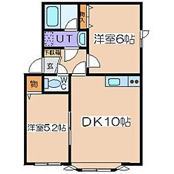 クレスト54[2-B号室]の間取り