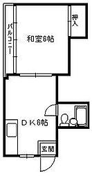 小松ビル[6階]の間取り