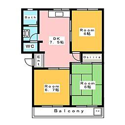 マンショントサ[2階]の間取り