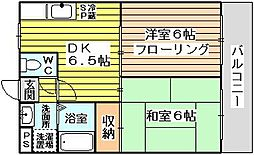 木島マンション[102号室]の間取り