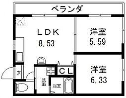 オーナーズマンション南巽[503号室号室]の間取り