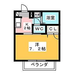 コーポはなみずきC[2階]の間取り
