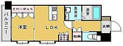 福岡県福岡市西区姪の浜6丁目の賃貸マンションの間取り