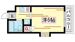 兵庫県神戸市北区鈴蘭台西町1丁目の賃貸マンションの間取り