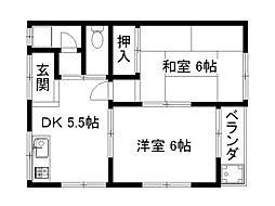 第一山本荘[2階]の間取り