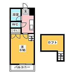 第6シティコート都府楼[1階]の間取り
