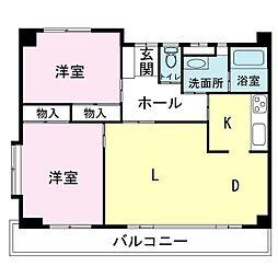 桜ケ丘パールハイツ[3階]の間取り